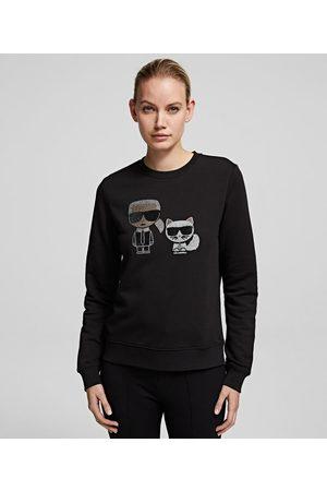 Karl Lagerfeld Women Sweatshirts - K/Ikonik Rhinestone Sweatshirt