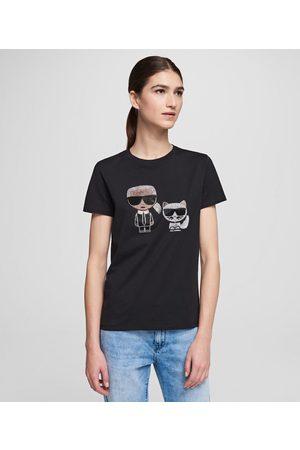 Karl Lagerfeld Women T-shirts - Ikonik Rhinestone T-Shirt