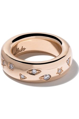 Pomellato 18kt rose Iconica diamond medium band ring