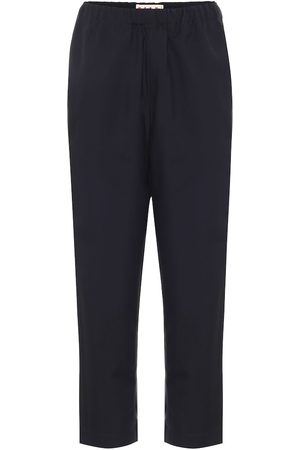 Marni High-rise straight wool pants