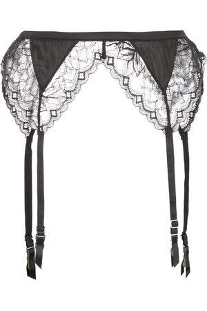 FLEUR DU MAL Women Stockings - Gardenia lace garterbelt