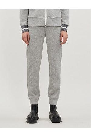 Moncler Marl-pattern cotton-jersey jogging bottoms
