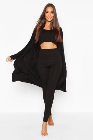 Boohoo Womens 3 Piece Legging And Robe Loungewear Set - - 2