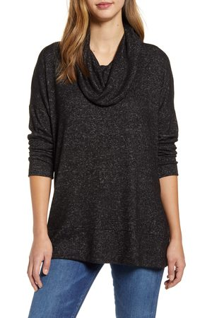 Loveappella Women's Loveapella Cowl Neck Long Sleeve Top