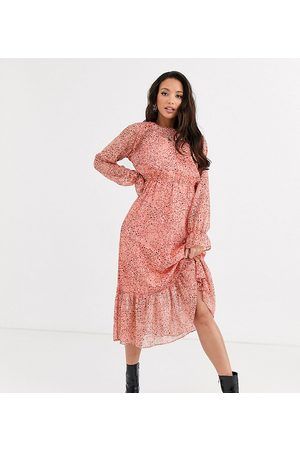 Y.A.S Owa long sleeve ditsy floral midi shirt dress