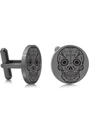 SuperJeweler Skull & Cross Cufflinks
