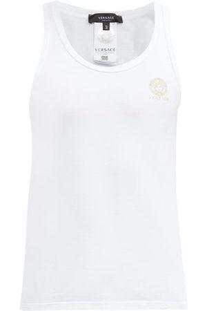 Versace Men Tank Tops - Medusa-print Cotton-blend Vest - Mens
