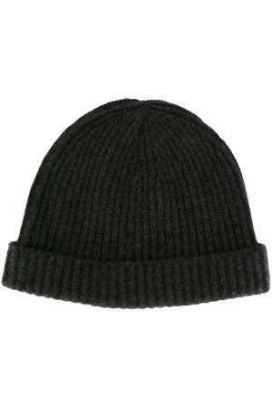 N.PEAL Ribbed-knit cashmere beanie - Grey