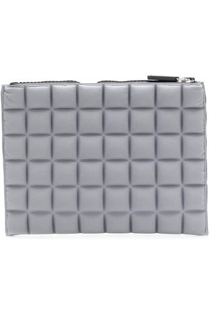 NO KA' OI Chocolate bar quilted pouch - Grey