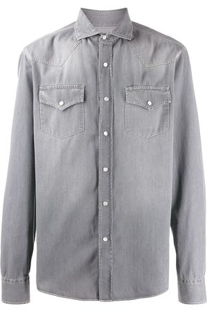 Brunello Cucinelli Washed denim shirt - Grey
