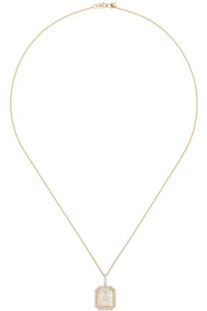 Mateo 14kt A initial necklace