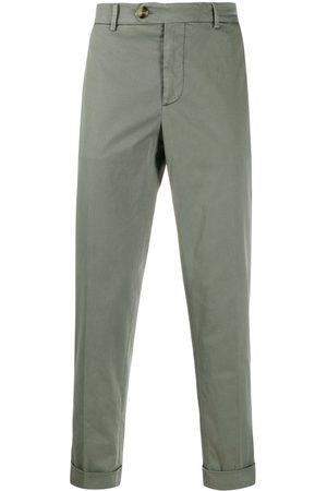 Brunello Cucinelli Mid-rise slim chinos - Grey