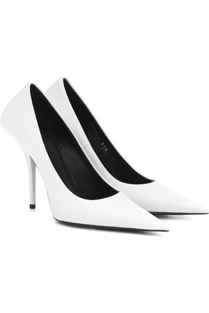 Balenciaga Women Heels - Square Knife leather pumps