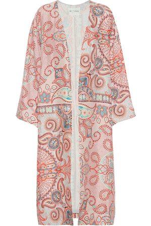 Etro Women Coats - Printed silk-crêpe coat