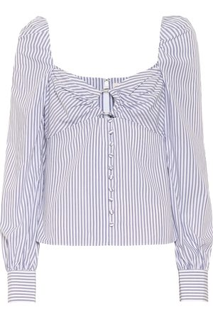 JONATHAN SIMKHAI Women Shirts - Striped cotton shirt