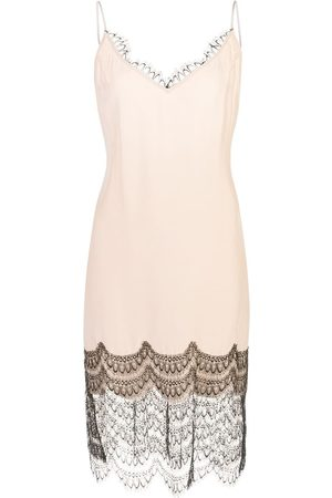 Kiki de Montparnasse Lace trim slip dress