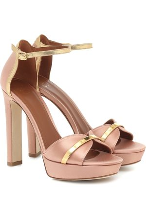 MALONE SOULIERS Miranda 125 satin sandals