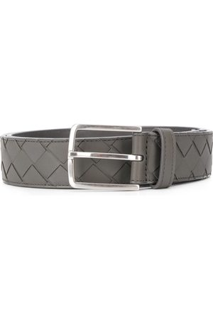 Bottega Veneta Intrecciato weave belt - Grey