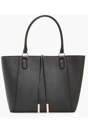 Boohoo Womens Structured Cross Hatch Tote Bag - - One Size