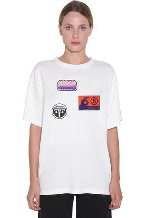 MM6 MAISON MARGIELA Cotton Jersey T-shirt W/stickers