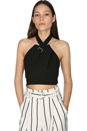 Proenza Schouler Gabardine Stretch Wool Helter Top