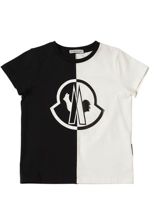 Moncler Color Block Cotton Jersey T-shirt