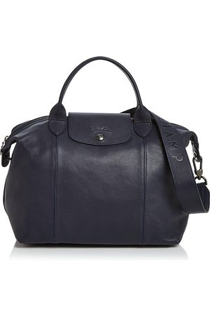 Longchamp Le Pliage Medium Leather Shoulder Bag