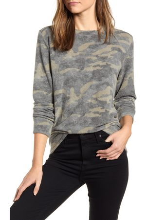 Loveappella Women's Loveapella Camo Print Brushed Long Sleeve Top