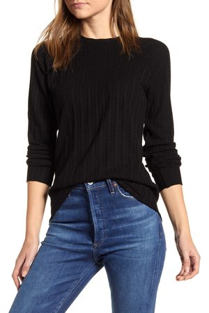 Loveappella Women's Loveapella Ribbed Long Sleeve Top