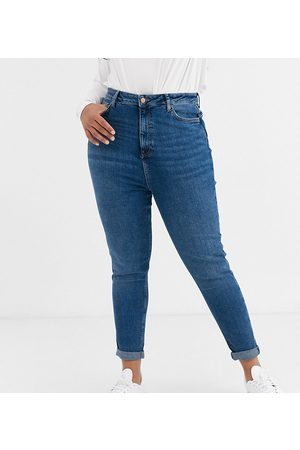 New Look New Look Curve mom jean in blue-Blues