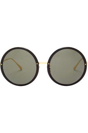 Linda Farrow Women Round - Kew Round Acetate And Metal Sunglasses - Womens