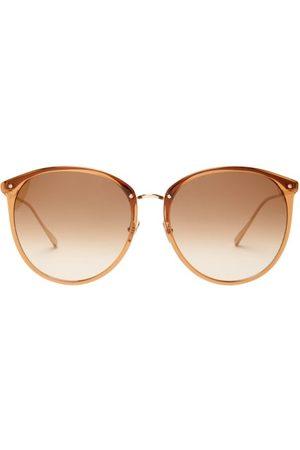 Linda Farrow Round Acetate Sunglasses - Womens