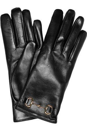 Gucci Women Gloves - Horsebit leather gloves