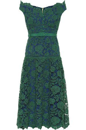 Self-Portrait Women Printed Dresses - Floral-lace midi dress