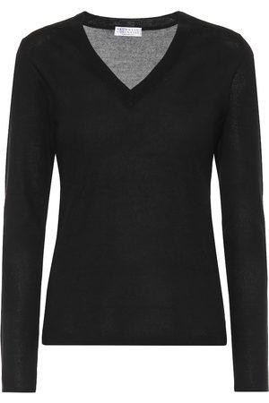 Brunello Cucinelli Women Sweaters - Cashmere and silk sweater
