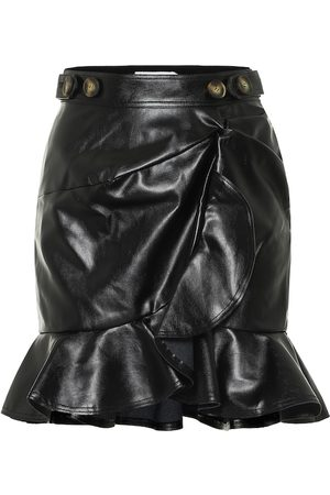 Self-Portrait Faux-leather miniskirt