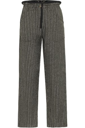 Saint Laurent Striped metallic pants