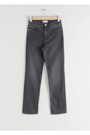 & OTHER STORIES Straight Stretch Jeans - Grey
