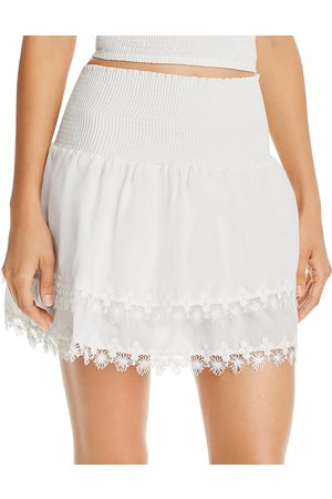 Peixoto Belle Smocked Mini Skirt Swim Cover-Up