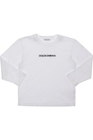 Dolce & Gabbana Logo Embroidered L/s Cotton T-shirt