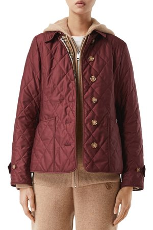 Burberry Women's Fernleigh Thermoregulated Diamond Quilted Jacket