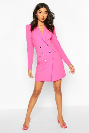Boohoo Womens Tall Puff Sleeve Blazer Dress - - 2