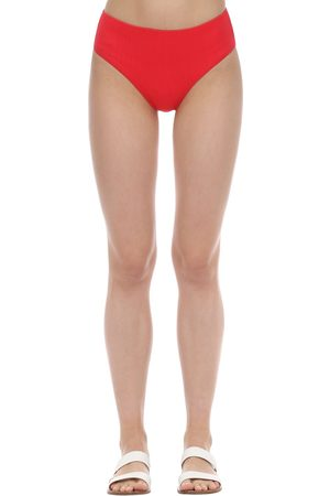 Ganni High Waist Textured Bikini Bottoms