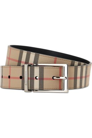Burberry 35mm Coated Check Faux Leather Belt