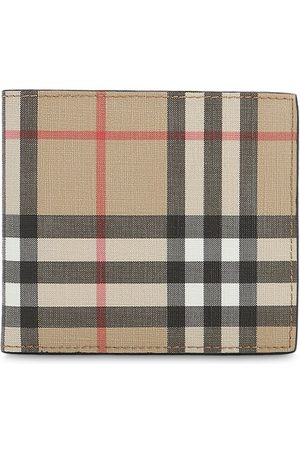 Burberry Men Wallets - Tech Coated Check Billfold Wallet