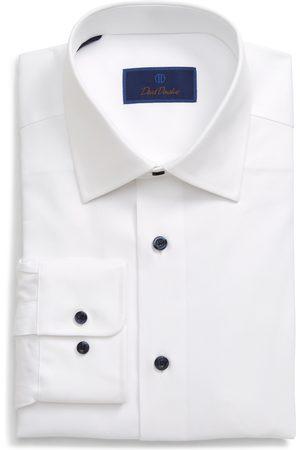 David Donahue Men's Regular Fit Cotton Dress Shirt
