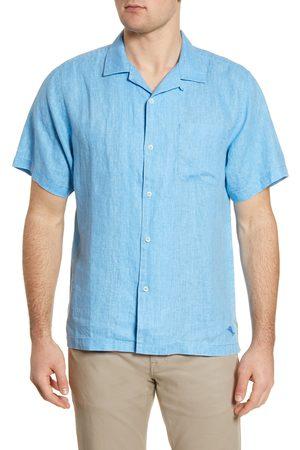 Tommy Bahama Men's Big & Tall Sea Glass Short Sleeve Button-Up Linen Shirt