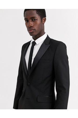 ASOS Skinny tuxedo suit jacket in