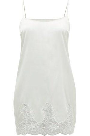 Fleur of England Signature Lace-trimmed Silk-blend Slip Dress - Womens