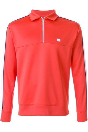 Ami Bicolor sweatshirt with polo collar